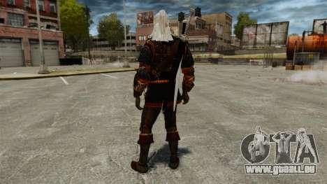 Geralt de Rivia v4 pour GTA 4 troisième écran