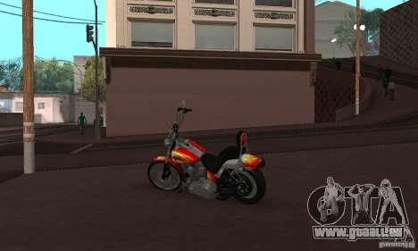 Harley Davidson softail Skin 2 pour GTA San Andreas vue de droite
