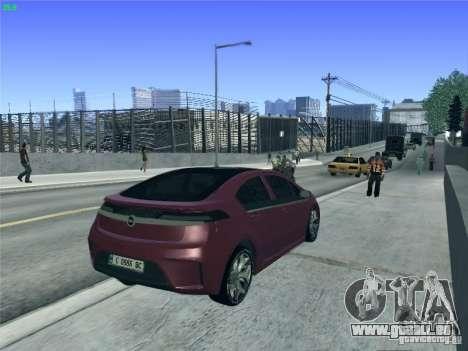 Opel Ampera 2012 pour GTA San Andreas vue de dessus