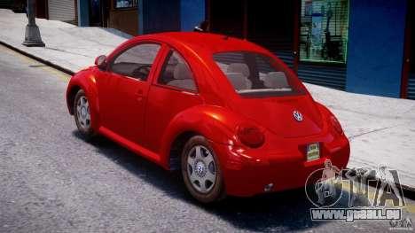 Volkswagen New Beetle 2003 pour GTA 4 Vue arrière de la gauche