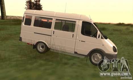 Gazelle 32213 Nowosibirsk Minibus für GTA San Andreas linke Ansicht