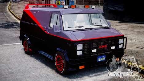 GMC Vandura A-Team Van 1983 für GTA 4 Innenansicht