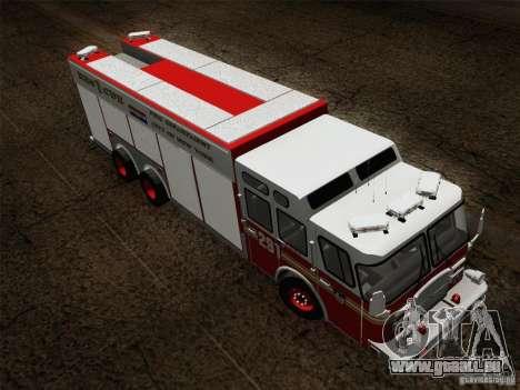 E-One F.D.N.Y Fire Rescue 1 für GTA San Andreas Seitenansicht