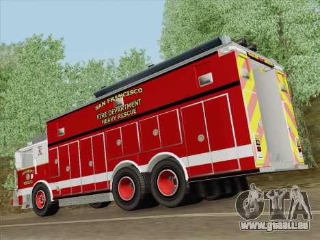 Pierce Walk-in SFFD Heavy Rescue für GTA San Andreas Motor