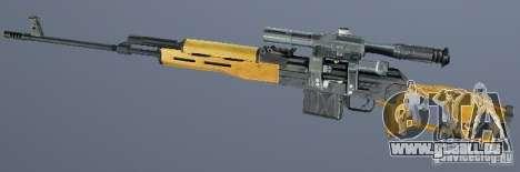 Fusil de précision Dragunov (SVD) pour GTA San Andreas deuxième écran