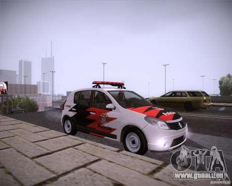 Renault Sandero Policia für GTA San Andreas rechten Ansicht