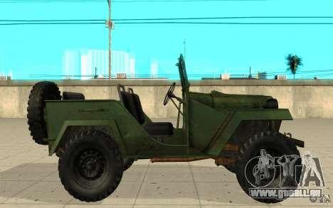 Gaz-67 pour GTA San Andreas laissé vue