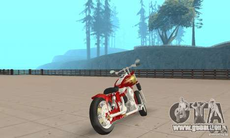 Orange County old school chopper Sunshine pour GTA San Andreas laissé vue