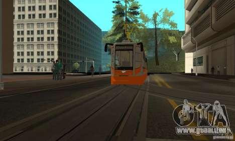 Tramway 71-623 pour GTA San Andreas laissé vue
