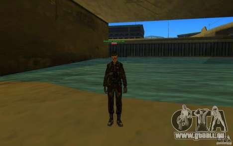 HQ skin Army pour GTA San Andreas troisième écran