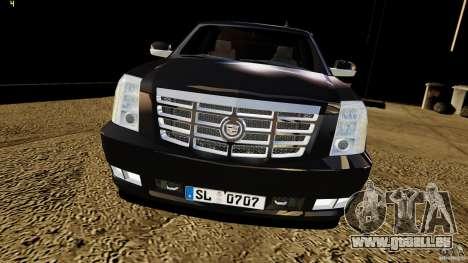 Cadillac Escalade 2007 v3.0 pour GTA 4 est un droit