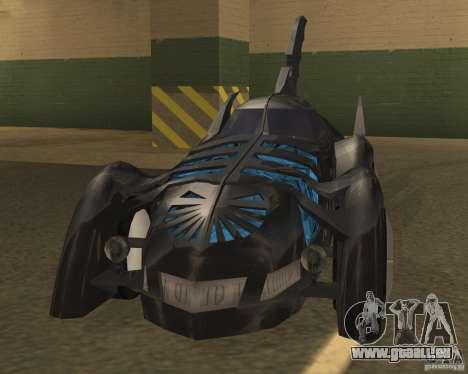 Batmobile pour GTA San Andreas laissé vue