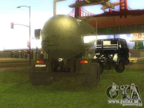 Remorque ciment TC-12 pour GTA San Andreas laissé vue