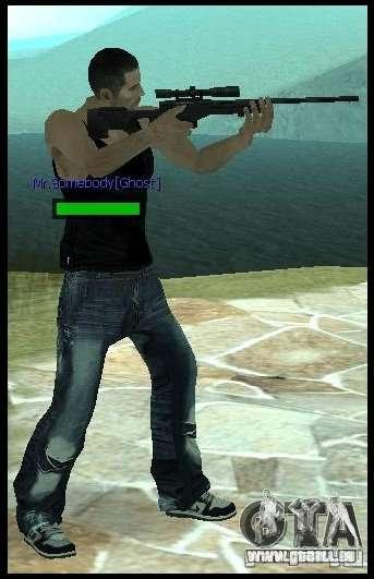 [Point Blank] L115A1 [Black] pour GTA San Andreas deuxième écran