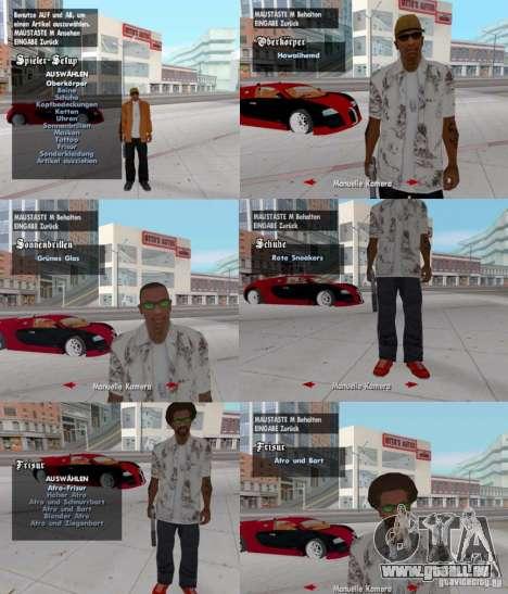 Un changement de vêtements, des tatouages et des pour GTA San Andreas