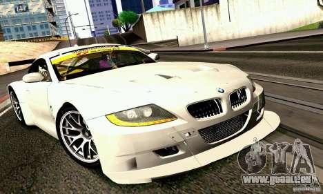 BMW Z4 E85 M GT 2008 V1.0 für GTA San Andreas zurück linke Ansicht