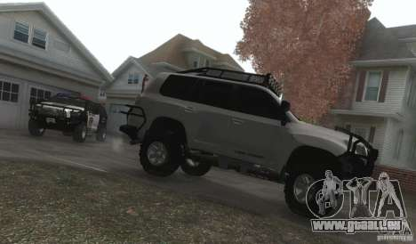 Toyota Land Cruiser 200 Off Road v1.0 pour GTA San Andreas vue intérieure