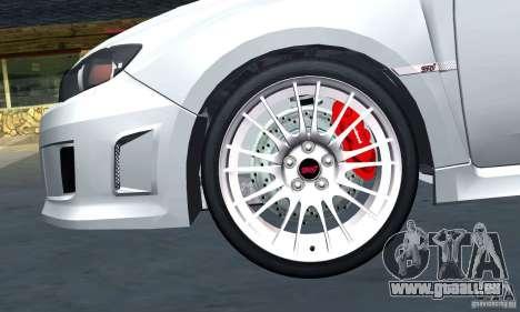Subaru Impreza WRX STi 2011 TAXI für GTA San Andreas Seitenansicht