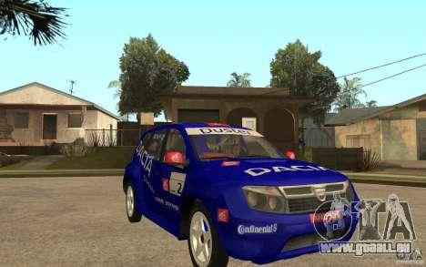 Dacia Duster Rally pour GTA San Andreas vue arrière