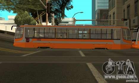 Straßenbahn 71-623 für GTA San Andreas rechten Ansicht