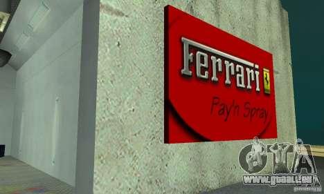 Ferrari, Lamborghini, Porsche Car Showroom pour GTA San Andreas troisième écran