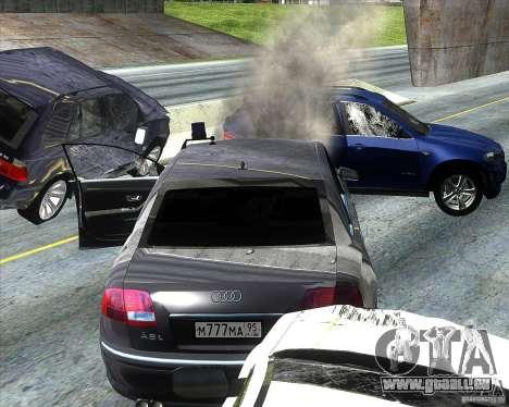Audi A8L W12 für GTA San Andreas Innenansicht