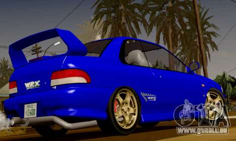Subaru Impreza WRX GC8 InitialD pour GTA San Andreas vue arrière