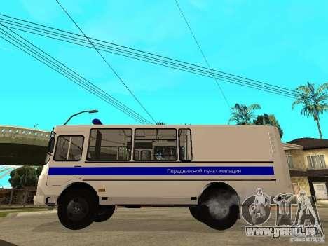 PAZ-3205-Polizei für GTA San Andreas linke Ansicht