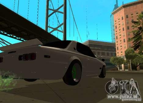 Nissan Skyline 2000 GT-R für GTA San Andreas Rückansicht