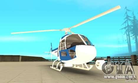 AS-350 Police pour GTA San Andreas vue arrière