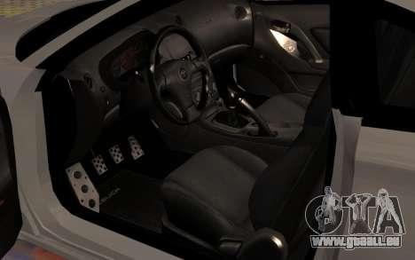 Toyota Celica 2JZ-GTE für GTA San Andreas Unteransicht