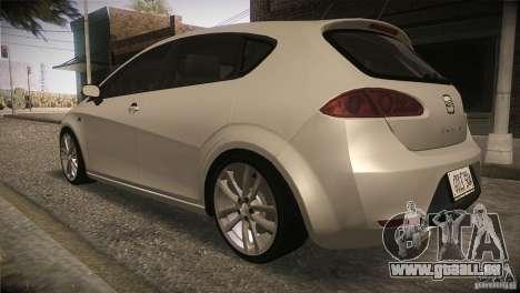 Seat Leon Cupra pour GTA San Andreas vue de côté