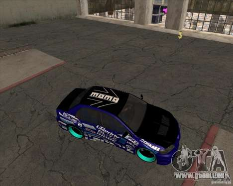 Mitsubishi Lancer Evolution 8 pour GTA San Andreas vue de droite