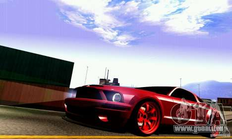 Shelby GT500 KR pour GTA San Andreas vue de dessus