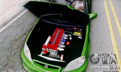 Honda Civic Si Sporty pour GTA San Andreas vue de côté