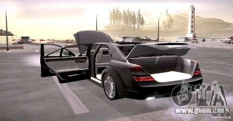 Mercedes-Benz S600 v12 für GTA San Andreas obere Ansicht