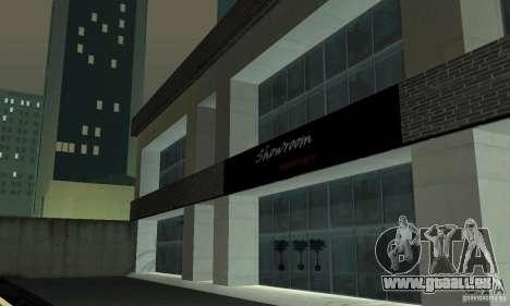 Ferrari, Lamborghini, Porsche Car Showroom pour GTA San Andreas deuxième écran
