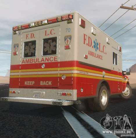 Ford F350 FDLC Ambulance v3.0 ELS pour GTA 4 Vue arrière