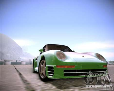 Porsche 959 1987 für GTA San Andreas zurück linke Ansicht