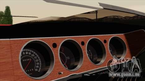 Plymouth Hemi Cuda 426 1971 pour GTA San Andreas vue de dessus