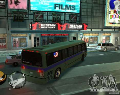 MTA NYC bus pour GTA 4 Vue arrière de la gauche