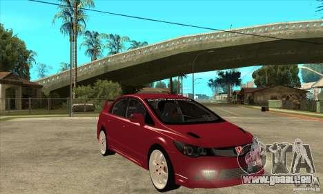 Honda Civic Mugen RR pour GTA San Andreas vue arrière