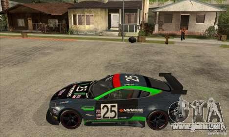 Aston Martin v8 Vantage N400 pour GTA San Andreas vue arrière