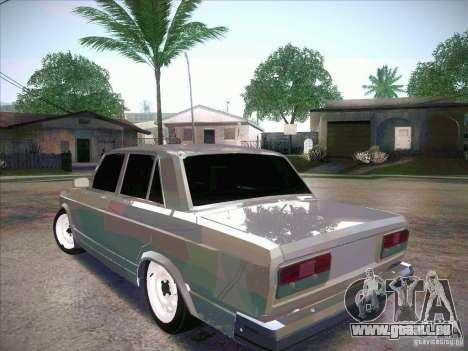 VAZ 2107 criminel pour GTA San Andreas laissé vue