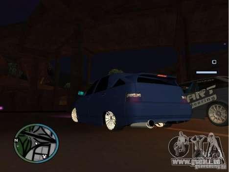 VAZ-2112 voiture Tuning pour GTA San Andreas sur la vue arrière gauche
