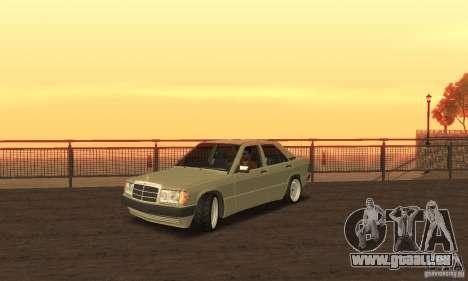 Mercedes-Benz 190E pour GTA San Andreas sur la vue arrière gauche
