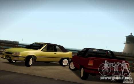 Chevrolet Kadett GSI Cabrio pour GTA San Andreas vue de droite