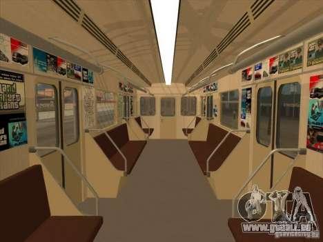 Tube type 81-717 pour GTA San Andreas vue intérieure