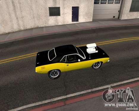 Plymouth Hemi Cuda 440 pour GTA San Andreas vue de droite
