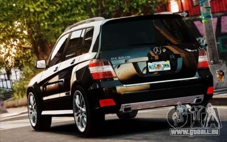 Mercedes-Benz GLK 320 CDI pour GTA 4 est une vue de l'intérieur